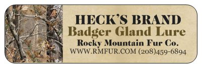 Heck's Badger Gland Lure