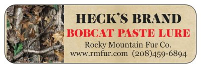 Heck's Bobcat Paste Lure