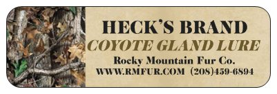 Heck's Coyote Gland Lure