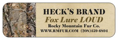 Heck's Fox Lure LOUD