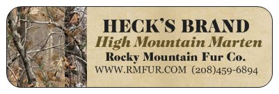 Heck's High Mountain Marten Lure