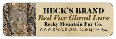 Heck's Red Fox Gland Lure